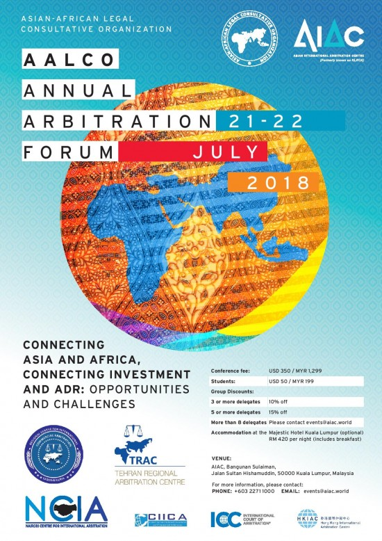 AALCO Arbitration Forum (2018) 1